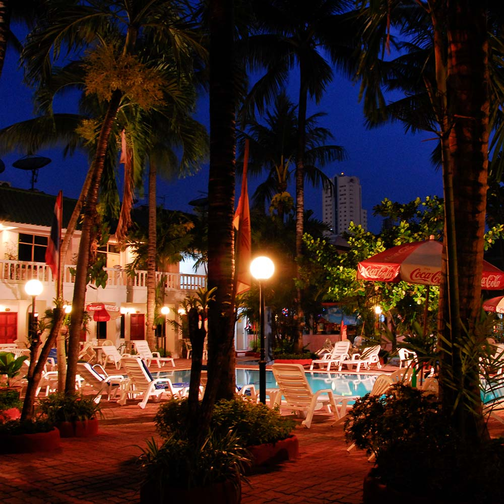 Night time at the Expat Hotel Patong